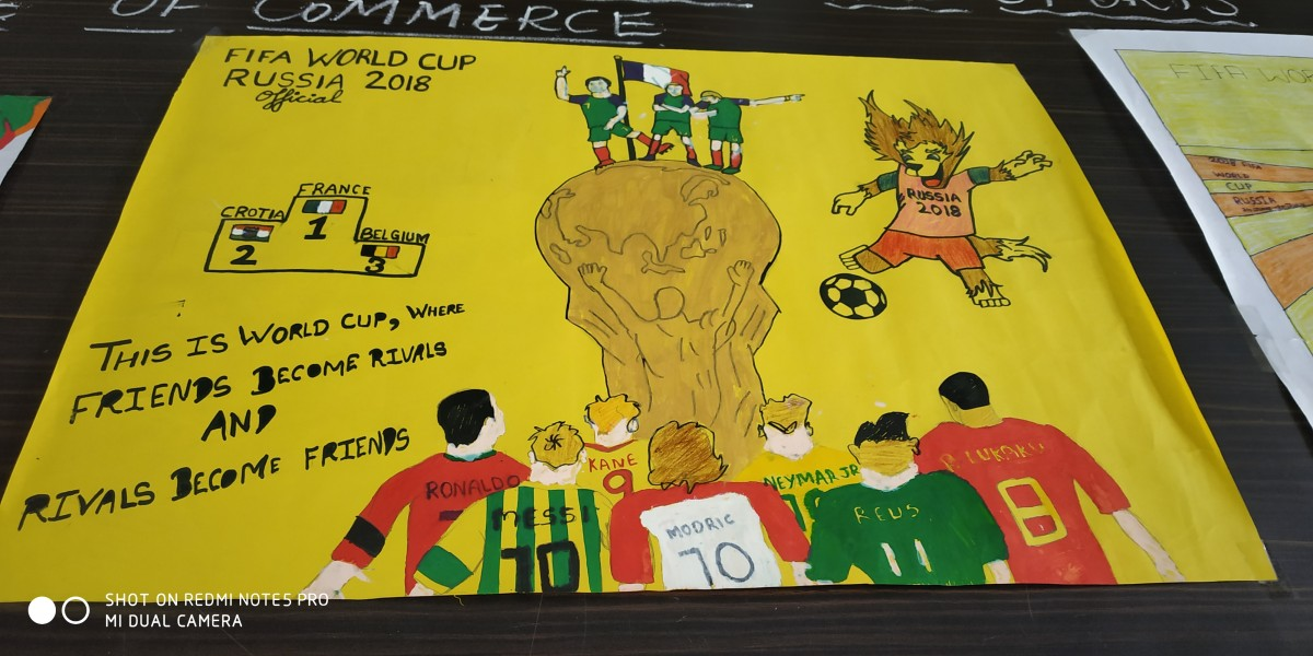 poster making competition on theme fifa world cup 2018 swami